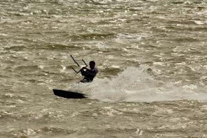 Boat: Kite surfer at speed